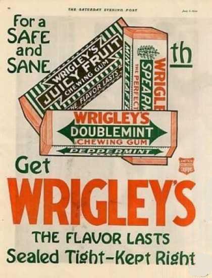 William Wrigley Checking Gum