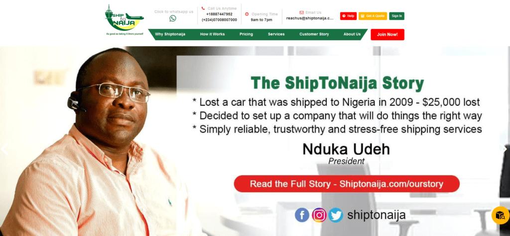 ShiptoNaija & Nduka Udeh Set A Shining Example For Other Nigerian Companies To Follow 1